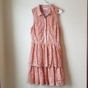 Peach Lace Anthropologie Dress